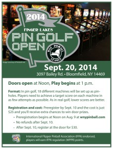 2014 Finger Lakes Pin-Golf Open