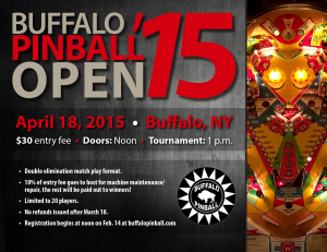 Buffalo Pinball Open 2015 Flyer