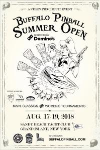 Buffalo Pinball Summer Open 2018 Poster