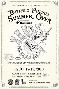 Buffalo Pinball Summer Open 2018 Poster