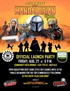 Mandalorian launch party flyer.